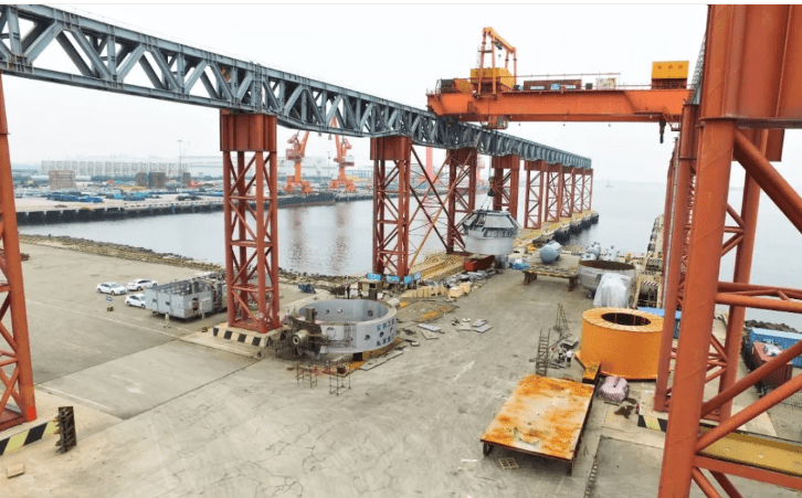 3 - [Original Article] Shocking! The complete set of converter equipment with a total weight of 1,100 tons and the largest 350 tons in the country was deliveried to Baosteel Zhanjiang Iron and Steel