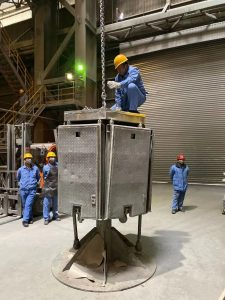 6stain less steel smelting 225x300 - LMMGROUP Visits Stain less Steel Smelting plant