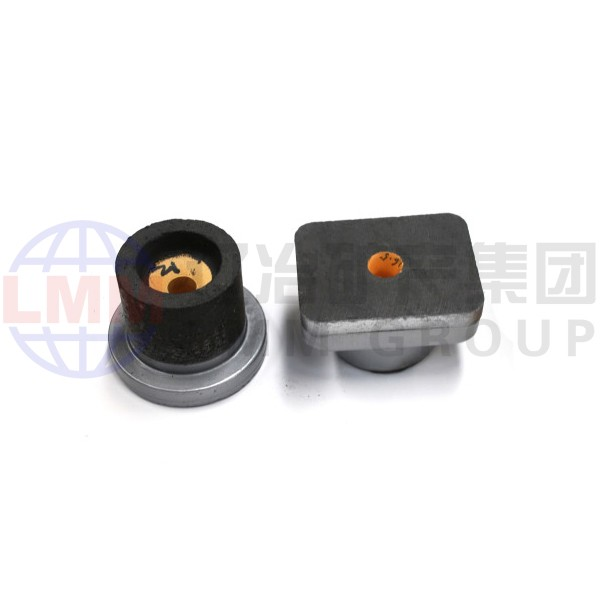 Stopper supporting tundish zirconium nozzle