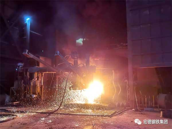 Steels electric furnace steelmaking plant1 - 1322 furnace! The furnace age of Hongde Steel's electric furnace steelmaking plant has set a new record! !